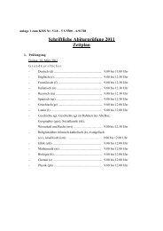 Schriftliche Abiturprüfung 2011 Zeitplan