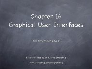 Chapter 16 Graphical User Interfaces - TAMU Computer Science ...