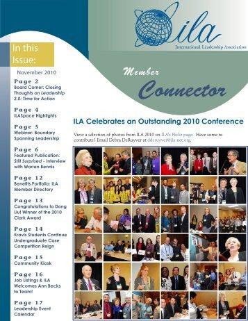 Connector - International Leadership Association