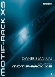 Motif-Rack XS Owner's Manual - zZounds.com