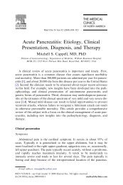 Acute Pancreatitis: Etiology, Clinical Presentation, Diagnosis, and ...