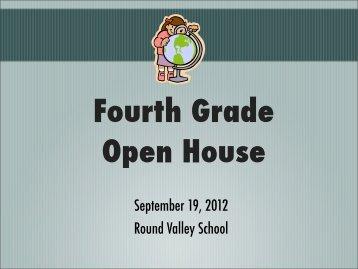 PowerPoint Presentation - Round Valley School Back To School Night