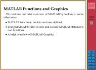 CM0268 Lecture 3: MATLAB Functions, Graphics and GUIs
