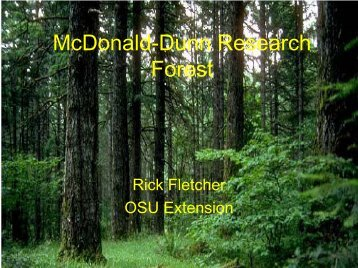McDonald-Dunn Research Forest - College Forests