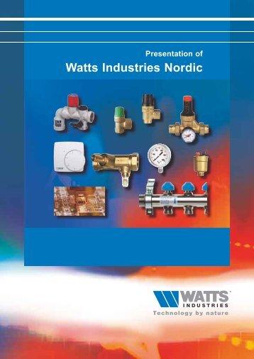 Presentation of Watts Industries Nordic