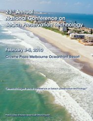 23rd Annual National Conference on Beach Preservation ... - fsbpa