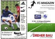 1. Spieltag gegen SV Bingen/Hitzkofen - FC 99
