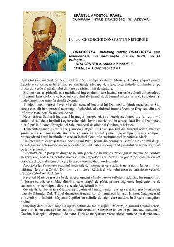 Sfântul Apostol Pavel-cumpăna între dragoste şi adevăr - Noi Dacii