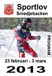 Sportlov 2013 - Smedjebackens kommun