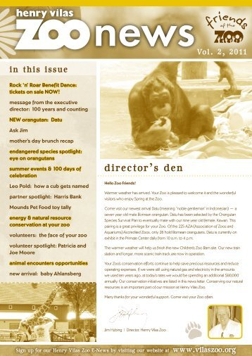 director's den - Henry Vilas Zoo