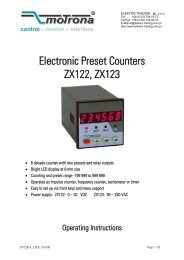Electronic Preset Counters ZX122, ZX123 - Elektro-Trading sp. z oo