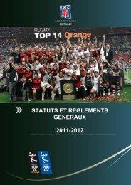 Statuts et Règlements Généraux Ligue Nationale de Rugby