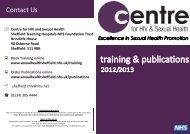Training & Publications National Leaflet 2012.pub - Centre for HIV ...