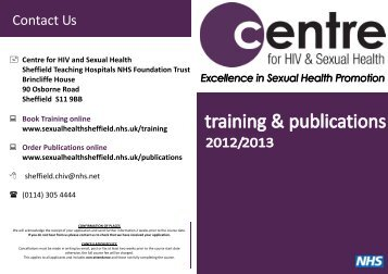Training & Publications National Leaflet 2012.pub - Centre for HIV ...