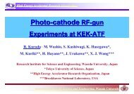 Photo-cathode RF-gun System - KEK