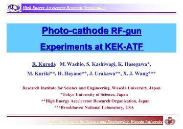 Photo-cathode RF-gun System - KEK