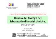 Il ruolo del Biologo nel laboratorio di analisi cliniche