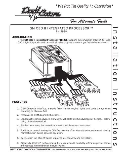 Installation Instructions - DualCurve