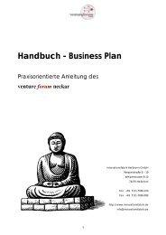 Handbuch Business Plan VFN - Venture Forum Neckar