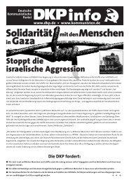 Solidarität mit den Menschen in Gaza - DKP Darmstadt