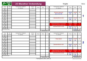 2/3 Marathon Vorbereitung - WiWa-KL.de