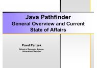 Java Pathfinder - PLG Home Page - University of Waterloo