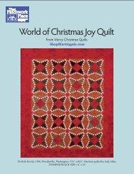 World of Christmas Joy Quilt - ShopMartingale