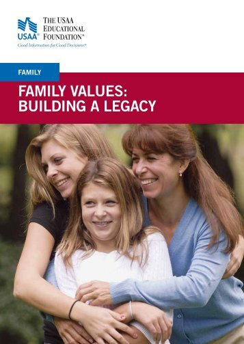 Family Values: Building A Legacy Workbook - ASD NVS