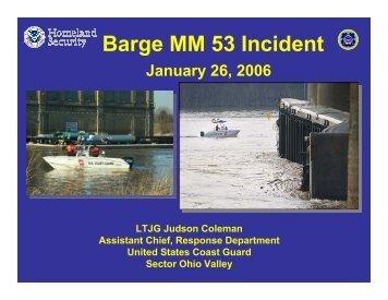 Barge MM 53 Incident - U.S. National Response Team (NRT)