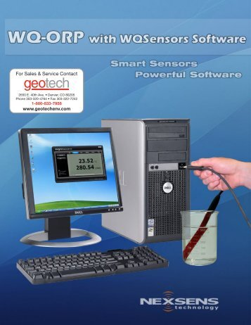 NexSens WQ-ORP Sensor User's Manual - Geotech Environmental ...