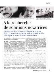 A la recherche de solutions novatrices - Cuche