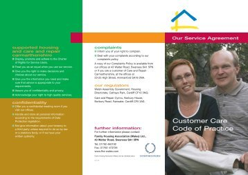 Customer Care Code of Practice - Family Housing Association (Wales)