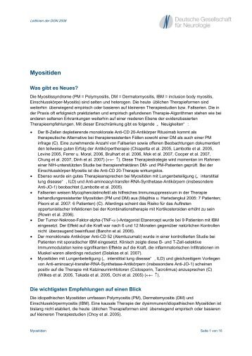 Myositiden - Kompetenznetz Parkinson