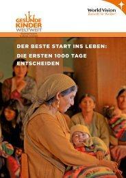 der beste start ins leben: die ersten 1000 tage ... - World Vision