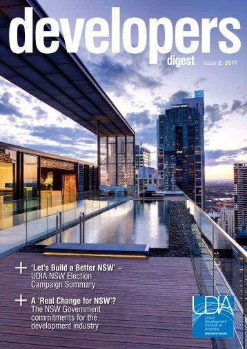 digest 'Let's Build a Better NSW' - UDIA