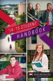 STUDENT HANDBOOK '13-'14 - Waubonsee Community College