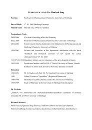 Curriculum vitae - Dr. Manfred Jung