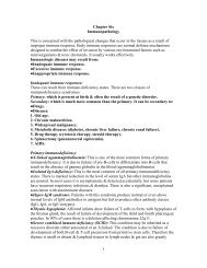 1 Chapter Six Immunopathology This is concerned with the ...