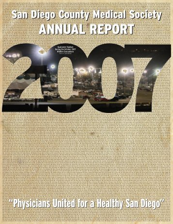 annual report annual report - San Diego County Medical Society