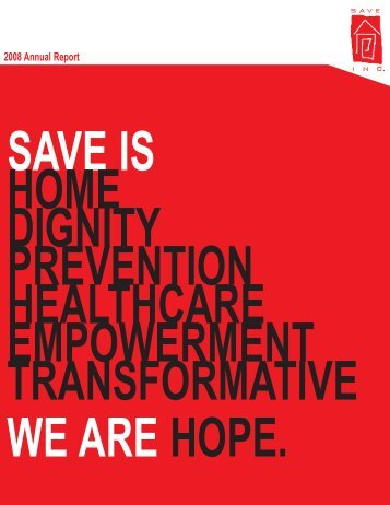 2008 Annual Report - SAVE, Inc