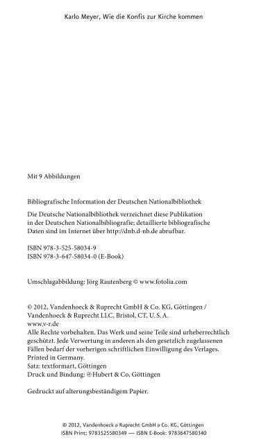 Wie die Konfis zur Kirche kommen - Vandenhoeck & Ruprecht
