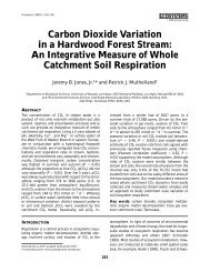 Carbon Dioxide Variation in a Hardwood Forest Stream: An ...
