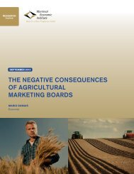 the negative consequences of agricultural marketing boards - IEDM