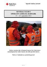 Invitasjon operativ ledelse barmark (A –kurs) - Røde Kors
