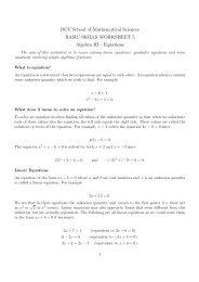 Algebra 3 - DCU