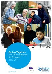 The Carers Strategy for Scotland 2010 - 2015 - Scottish Government