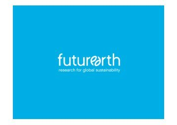 Future Earth Research for Global Sustainability