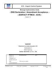 EDIFACT IFTMCS - ACK - DAKOSY Datenkommunikationssystem AG