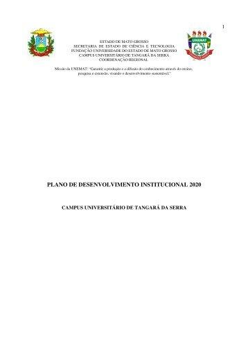 Plano de Desenvolvimento Institucional 2008-2020 - UNEMAT