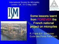 Some Lessons Learnt from the French National Research Project on ...